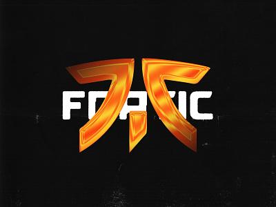 Fnatic acid graphics chrometype chrome logo orange esports fnatic
