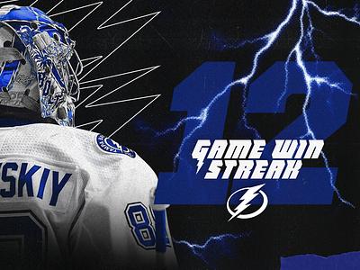 Vasilevskiy Graphic layout tampa bay lightning blue nhl sports design sports hockey