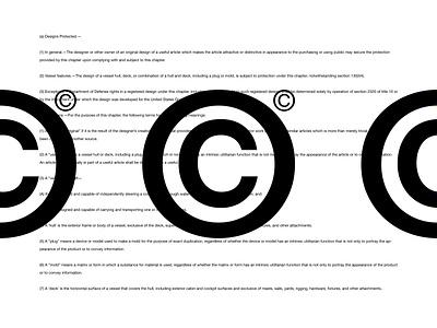 copyright© black  white logo c copyright type brutalist