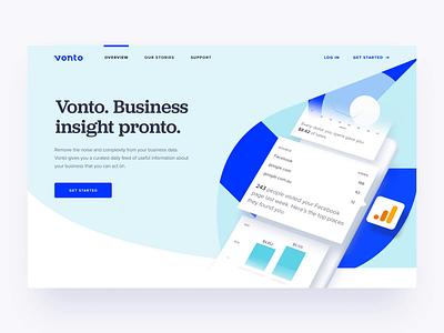 Vonto - Landing Page design website landingpage product design animation ux design interaction ui design