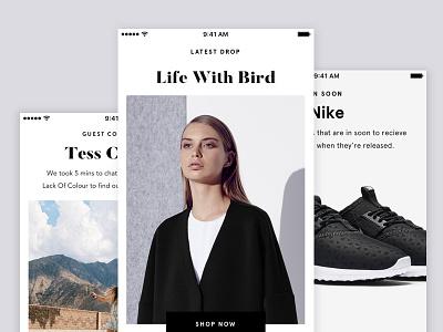 Superette mobile app minimalism ui design