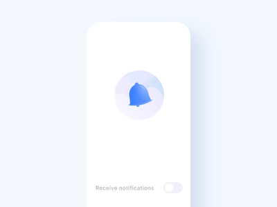 Exploration - Water Bell Notification microinteraction ui design illustration interaction animation ui design
