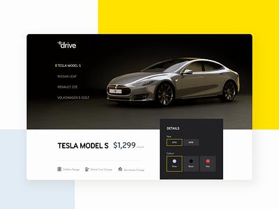Mercury Drive - Selecting your car website design product design animation ui ux ux design interaction design ui design