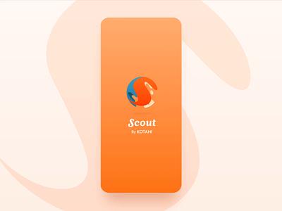 Scout by KOTAHI design branding mobile app ux product design chatbot ui animation ux design interaction ui design