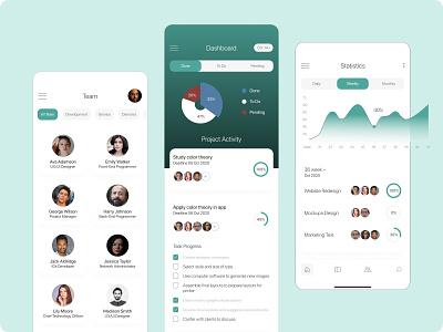 Project Management App graphics management chat app