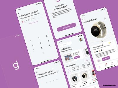 E-commerce — Gadget Store App shop store watch electronic verification registration splash gadget