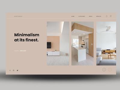 Minimalist at its finiest ux website branding ui web minimal design