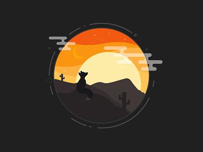 so long Activeden envato fox sunset illustration
