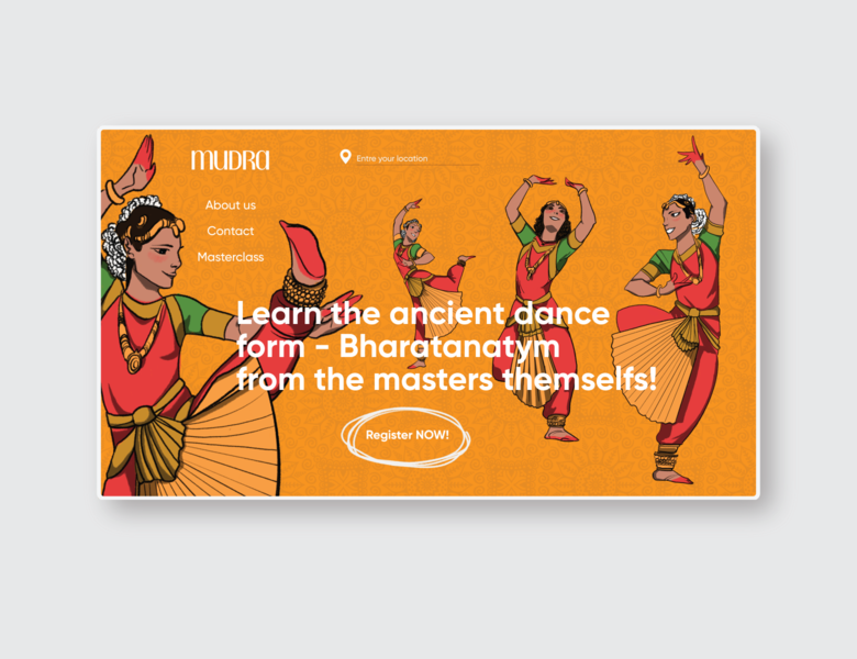Mudra uiux design classical design indian classical indian dance indian design illustration logo design branding concept uiuxdesign ui interface uiux brand identity uidesign branding