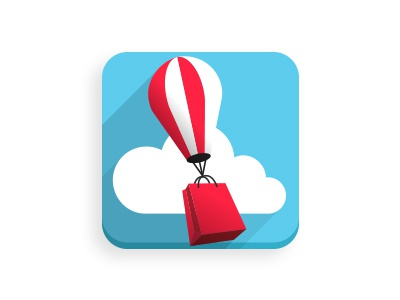 Shopping up icon