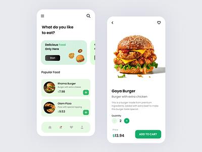 Food Delivery App app icon typography ux vector branding ui design