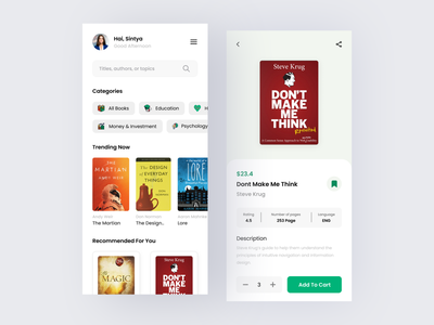 E-Book Mobile App ebook design ebook book mobile app mobile ui app icon typography ux ui logo design