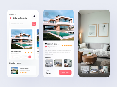 Hogo-Home Booking App hotel house mobile app design mobile design rent booking app home app uiux uidesign design typogaphy mobile app mobile ui ux ui