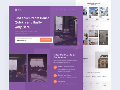 Bastay-Booking House Landing Page booking web house hotel booking clean ui clean design home booking website landing page ui design uiux clean uidesign mobile ui ux app design ui