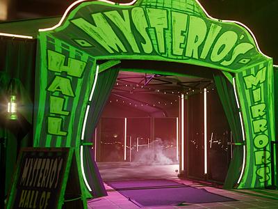 Mysterio's Hall of Mirrors - Spiderman photoshop video game art illustration design