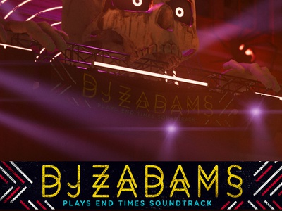 Dj Zacadams 01 typography video game art photoshop illustration design