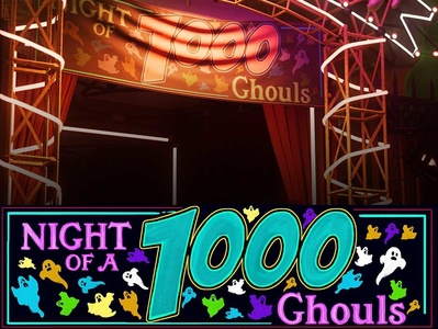 1000ghouls 01 illustration typography video game art photoshop design