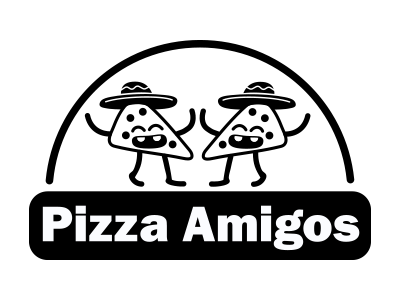 Pizza Amigos - Spiderman In-Game Signs vector illustration logo video game art typography design