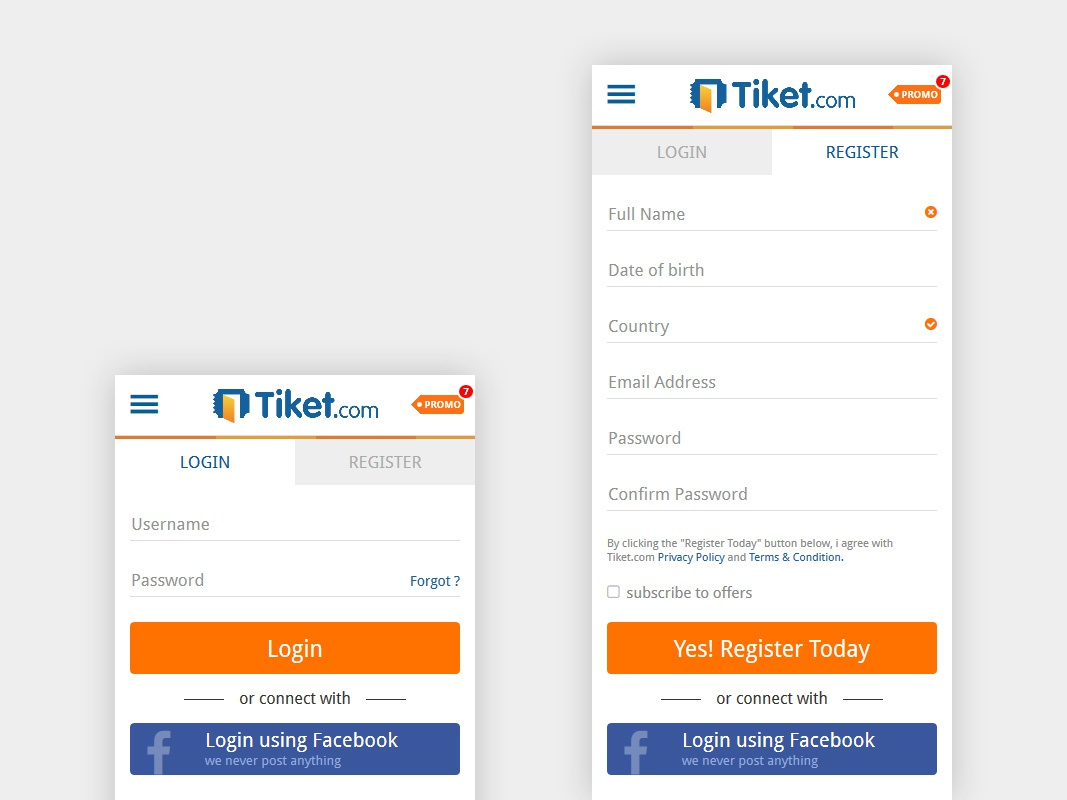 Dribbble tiket mobile login full