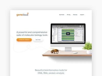 Bioinformatics Homepage mapping cloning biologist analysis green nature landing homepage white web