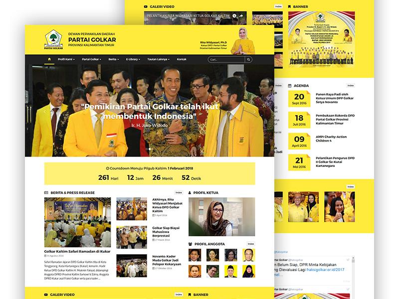 Golkar Kaltim | Agency: Numesa | PSD & HTML/CSS