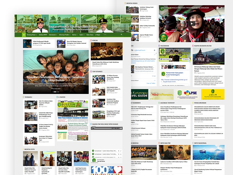 Humas Kutai Kartanegara | Agency: Numesa | PSD & HTML/CSS