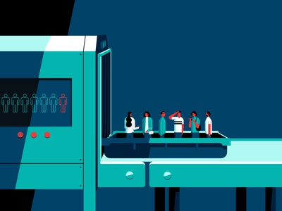 Rule of Six figures security conceptual editorial covid-19 coronavirus conceptual illustration digital illustration conceptual art vectorart digital illustration