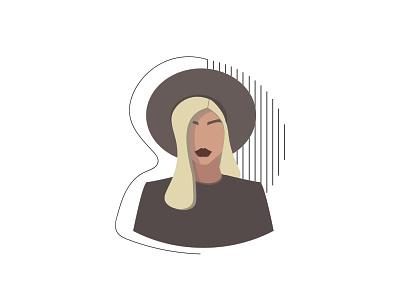 Mystery adobe bussines elegant beauty silver beige grey white blond art trend lines graphic design plain simple illustration illustrator woman