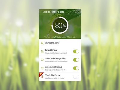 Easy Finder mobile UI