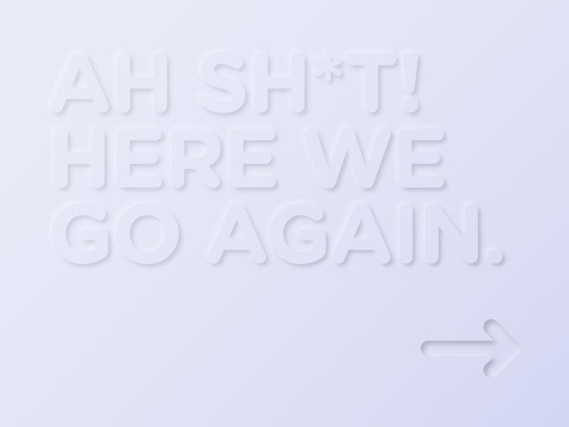 Neomorphic Meme typography emboss bewel glows shadows meme typogaphy neomorphic neomorphism