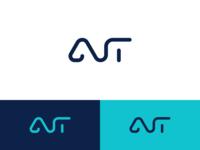 ANT branding typography design monogram lettering line logo