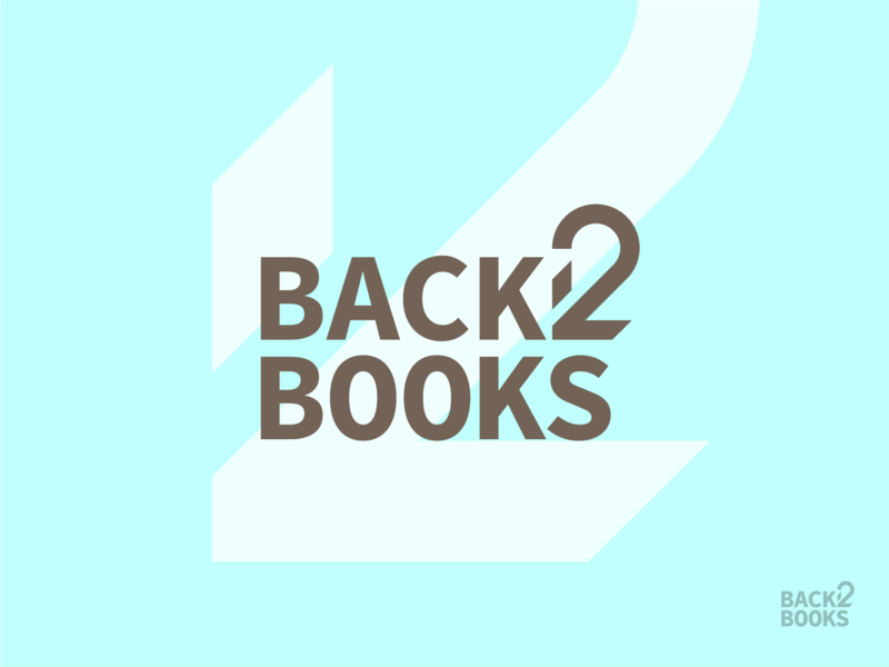 Back 2 Books Logo typography design logo