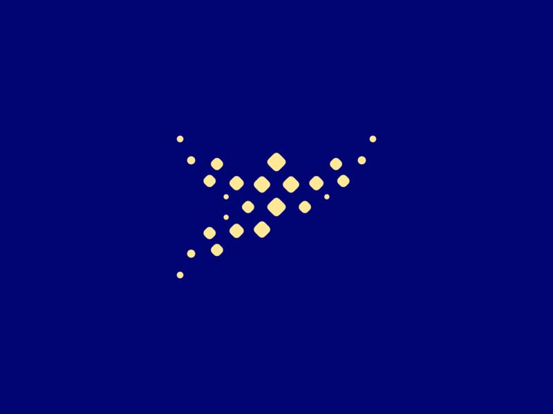 Bits & Pieces ~ 3 person flying minimalist shapes pieces bits vector design