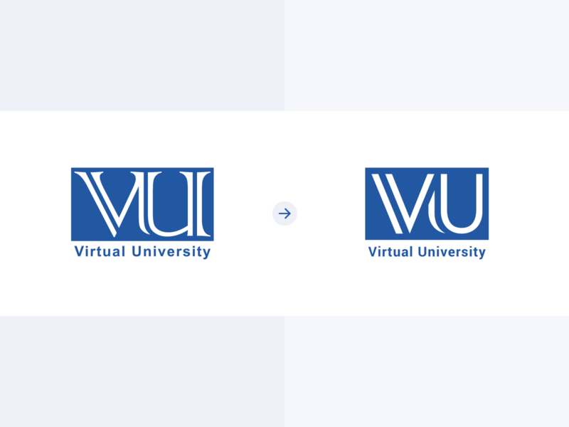 Virtual University Logo Redesign redesign remake pakistan university logo virtual university lines shapes design logo