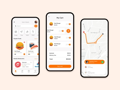 Food Delivery App dribbble ios app simple clean ui food ux food delivery delivery app food app mobile mobile app ui design illustration design app ui