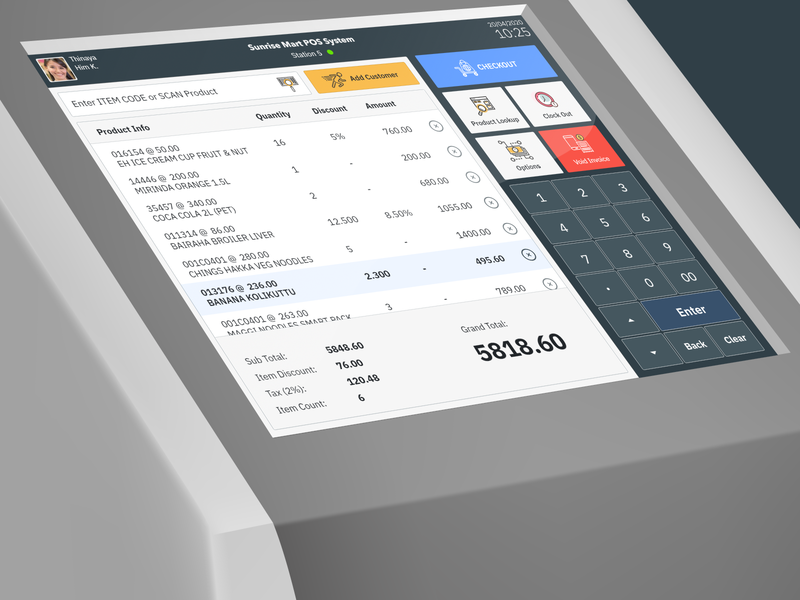 POS UI- Point of Sale System for Retail shopping touchscreen business customer retail transaction purchase illustration prototype ui ux