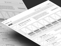 Wireframing Inspiration- Alphabet filter for data list (Authors)