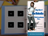 AR App: Employee Recognition Handbook Front-view