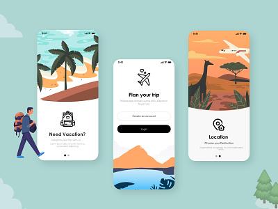 Onboardign UX UI Design flat ui website illustrator typography minimal illustration design logo branding
