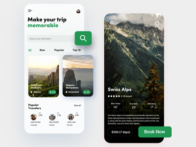 Explore Places App minimal ux ui app typography design