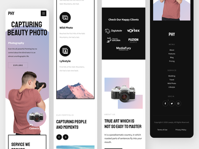 Photographer App graphic design ui ux minimal illustrator icon app typography design