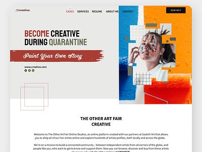 Painter Landing Page website ux minimal illustrator icon typography design branding illustration