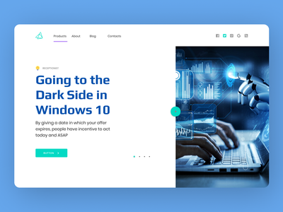 Windows Landing Page web website ui ux minimal typography design