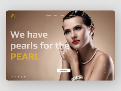 Jewelry Landing Page jewelry web graphic design website branding ui ux minimal typography design