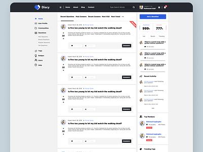 FAQ's Dashboard Concept web typography branding design ui