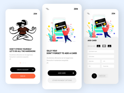 Online Payment App ux app ui design