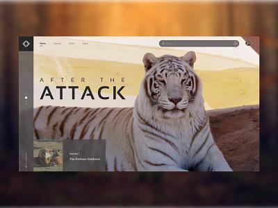 Animal Video Landing Page web ux ui design