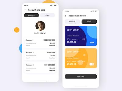 Account Managment App minimal app web ui ux design