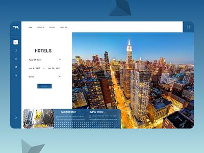 Online Hotel Booking Web Design website branding minimal web design ux ui
