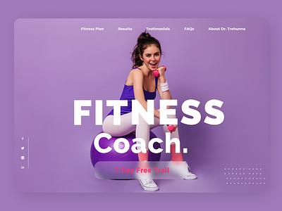Fitness Trainer designs new web ux ui design